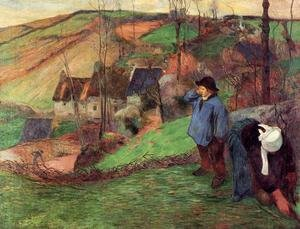 Reproduction oil paintings - Paul Gauguin - Little Breton Shepherd