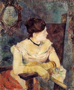 Reproduction oil paintings - Paul Gauguin - Madame Mette Gauguin In An Evening Dress