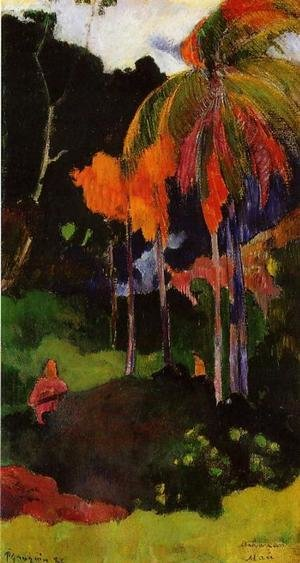 Reproduction oil paintings - Paul Gauguin - Mahana Maa  I Aka The Moment Of Truth  I