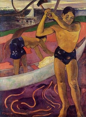 Reproduction oil paintings - Paul Gauguin - Man With An Ax