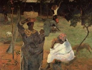 Reproduction oil paintings - Paul Gauguin - Mango Pickers  Martinique