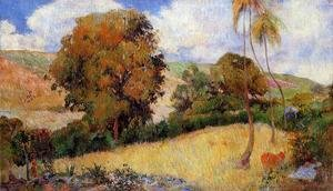Reproduction oil paintings - Paul Gauguin - Meadow In Martinique