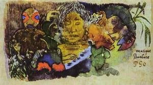 Reproduction oil paintings - Paul Gauguin - Musique Barbare