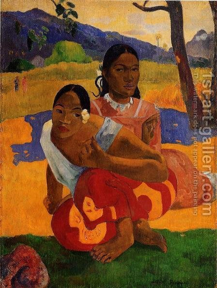 Paul Gauguin: Nafeaffaa Ipolpo Aka When Will You Marry - reproduction oil painting