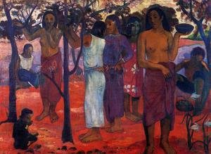 Reproduction oil paintings - Paul Gauguin - Nave Nave Mahana Aka Delightful Day