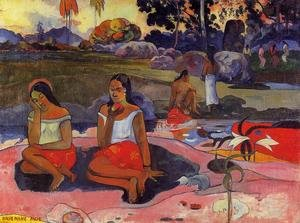Reproduction oil paintings - Paul Gauguin - Nave Nave Moe Aka Delightful Drowsiness