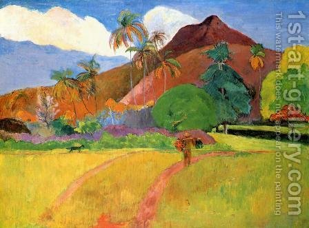 Paul Gauguin: Tahitian Landscape2 - reproduction oil painting