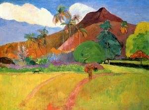 Reproduction oil paintings - Paul Gauguin - Tahitian Landscape2