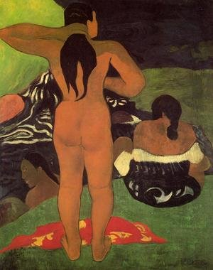Reproduction oil paintings - Paul Gauguin - Tahitian Women Bathing