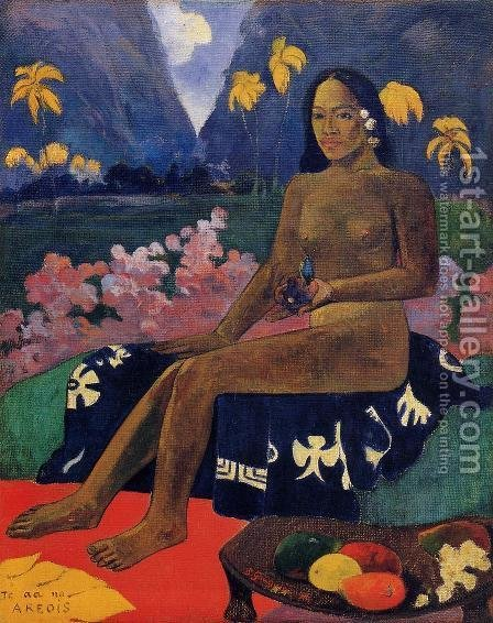 Paul Gauguin: Te Aa No Areois Aka The Seed Of Areoi - reproduction oil painting