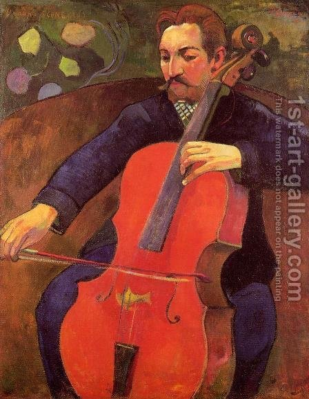 Paul Gauguin: The Cellist Aka Portrait Of Fritz Scheklud - reproduction oil painting