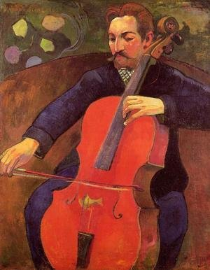 Reproduction oil paintings - Paul Gauguin - The Cellist Aka Portrait Of Fritz Scheklud