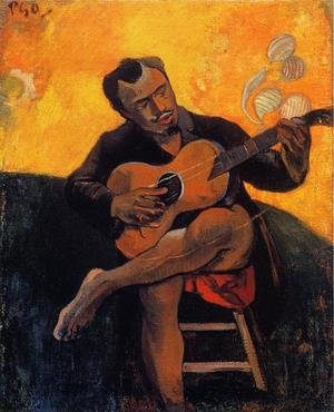 Reproduction oil paintings - Paul Gauguin - The Guitar Player