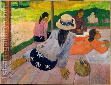 Paul Gauguin: The Siesta - reproduction oil painting