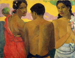 Reproduction oil paintings - Paul Gauguin - Three Tahitians