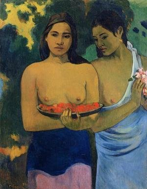 Paul Gauguin reproductions - Two Tahitian Women