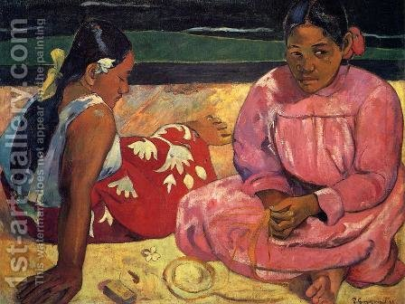Two Women On The Beach by Paul Gauguin - Reproduction Oil Painting