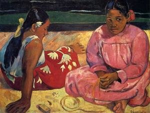 Reproduction oil paintings - Paul Gauguin - Two Women On The Beach