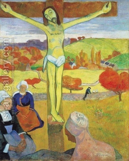 Paul Gauguin: Yellow Christ - reproduction oil painting