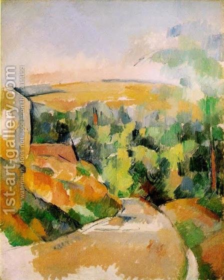 A Bend In The Road by Paul Cezanne - Reproduction Oil Painting