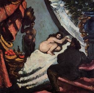 Reproduction oil paintings - Paul Cezanne - A Modern Olympia (Pasha