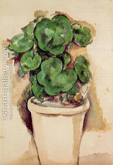 A Pot Of Geraniums by Paul Cezanne - Reproduction Oil Painting
