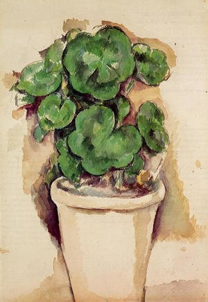 Reproduction oil paintings - Paul Cezanne - A Pot Of Geraniums