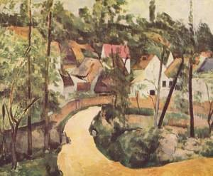Famous paintings of Villages: A Turn In The Road