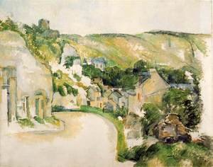 Reproduction oil paintings - Paul Cezanne - A Turn On The Road At Roche Ruyon