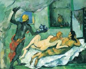 Reproduction oil paintings - Paul Cezanne - Afternoon In Naples With A Black Servant