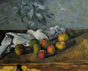 Reproduction oil paintings - Paul Cezanne - Apples And Napkin