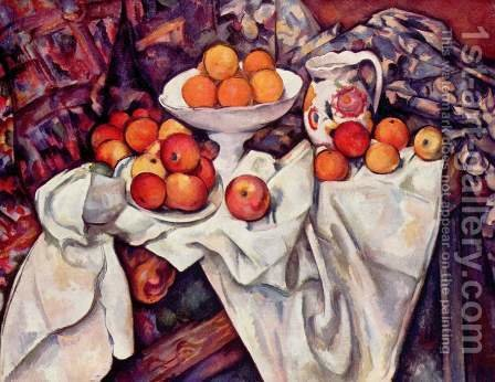 Apples And Oranges by Paul Cezanne - Reproduction Oil Painting