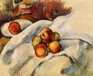 Reproduction oil paintings - Paul Cezanne - Apples On A Sheet