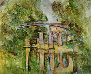 Reproduction oil paintings - Paul Cezanne - Aqueduct And Lock