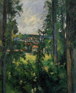 Reproduction oil paintings - Paul Cezanne - Auvers Sur Oise  View From Nearby