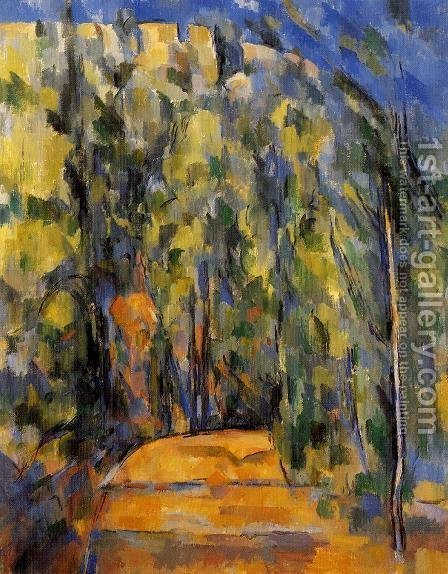 Paul Cezanne: Bend In The Forest Road - reproduction oil painting