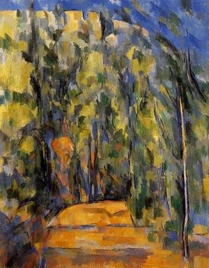 Reproduction oil paintings - Paul Cezanne - Bend In The Forest Road