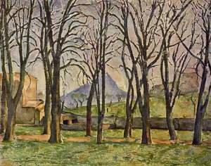 Reproduction oil paintings - Paul Cezanne - Chestnut Trees At The Jas De Bouffan