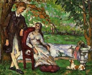 Reproduction oil paintings - Paul Cezanne - Couple In A Garden Aka The Conversation