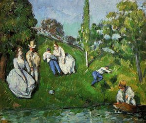 Reproduction oil paintings - Paul Cezanne - Couples Relaxing By A Pond