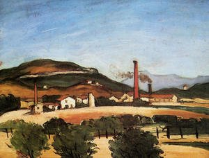 Reproduction oil paintings - Paul Cezanne - Factories Near Mont De Cengle