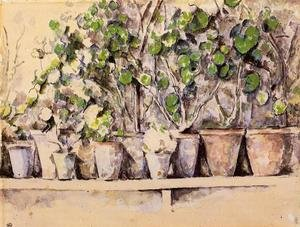 Reproduction oil paintings - Paul Cezanne - Flowerpots