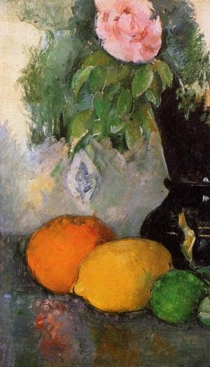 Reproduction oil paintings - Paul Cezanne - Flowers And Fruit