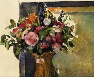 Reproduction oil paintings - Paul Cezanne - Flowers In A Vase2