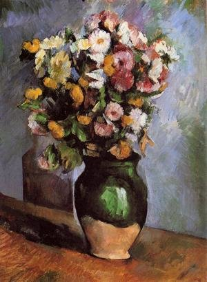 Reproduction oil paintings - Paul Cezanne - Flowers In An Olive Jar