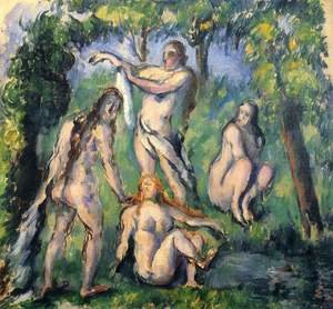 Reproduction oil paintings - Paul Cezanne - Four Bathers