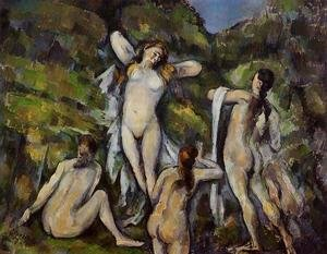 Reproduction oil paintings - Paul Cezanne - Four Bathers2