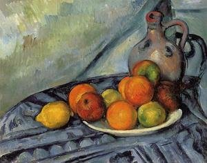 Reproduction oil paintings - Paul Cezanne - Fruit And Jug On A Table