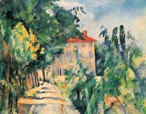 Reproduction oil paintings - Paul Cezanne - House With Red Roof