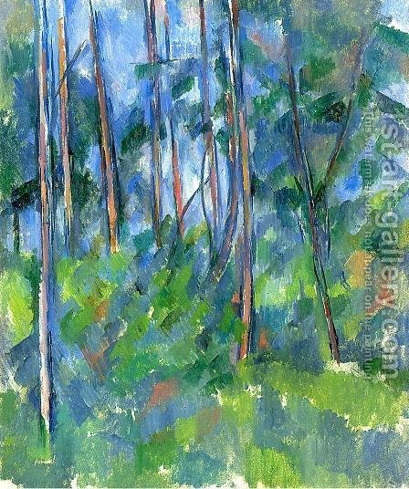 Paul Cezanne: In The Woods3 - reproduction oil painting